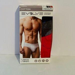 Men's package of (3) Bikini Briefs